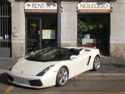 LAMBORGHINI Gallardo Spider - Bianco Perla - Joey Rent Luxury car Rental in Milano - Lamborghini Hire
