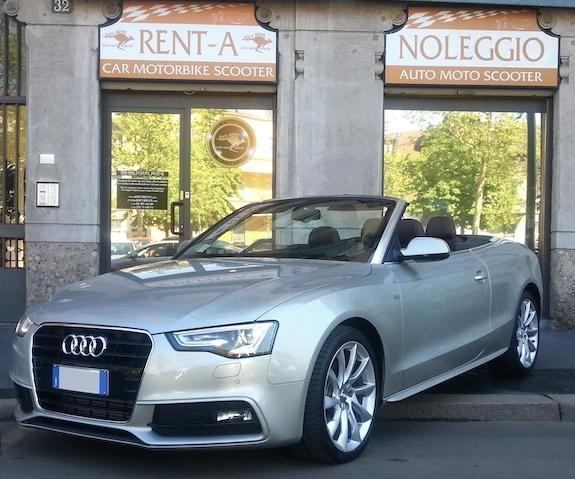 Audi a5 cabrio a noleggio -joey rent luxury car hire in europe milano & florence